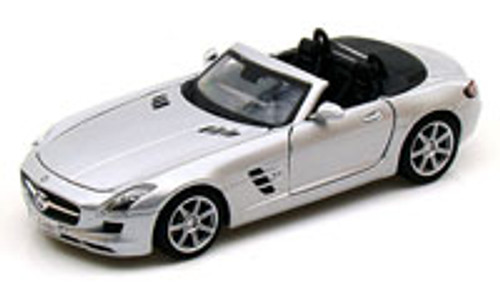 Mercedes-Benz SLS AMG Roadster Convertible, Silver - Maisto 34272 - 1/24 Scale Diecast Model Toy Car (Brand New, but NOT IN BOX)