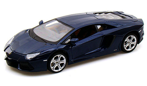 Lamborghini Aventador LP700-4, Blue - Maisto 31210 - 1/24 Scale Diecast Model Toy Car