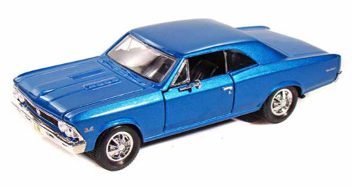 1966 Chevy Chevelle SS396, Blue - Maisto 31960 - 1/24 Scale Diecast Model Toy Car