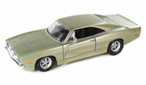 1969 Dodge Charger R/T, Champagne Silver - Maisto 31256 - 1/25 Scale Diecast Model Toy Car