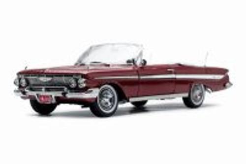 1961 Chevy Impala Open Convertible, Honduras Maroon - Sun Star 3410 - 1/18 scale Diecast Model Toy Car