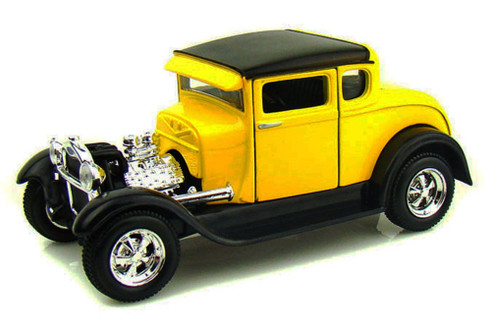 1929 Ford Model A, Yellow - Maisto 34201 - 1/24 Scale Diecast Model Toy Car