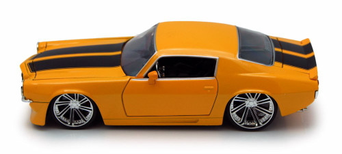 1971 Chevy Camaro, Yellow w/ Black stripes - Jada Toys 90535 - 1/24 scale Diecast Model Toy Car (Brand New, but NOT IN BOX)