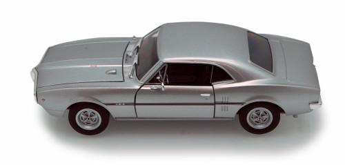 1967 Pontiac Firebird, Silver - Welly 22502 - 1/24 scale Diecast Model Toy Car