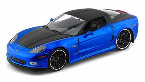 2006 Chevy Corvette Z 06, Blue w/ black top - Jada Toys 96804 - 1/24 scale Diecast Model Toy Car