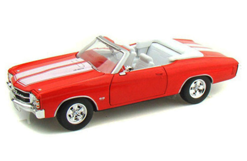 1971 Chevy Chevelle SS454 Convertible, Orange - Welly 22089 - 1/24 scale Diecast Model Toy Car