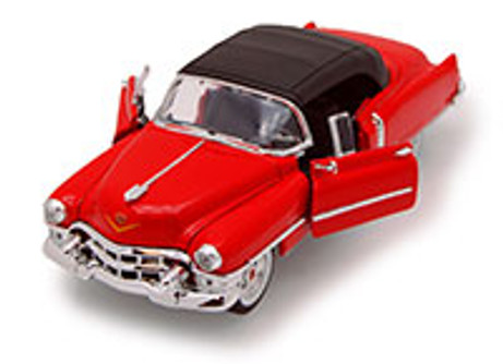 1953 Cadillac Eldorado, Red - Welly 22414 - 1/24 scale Diecast Model Toy Car