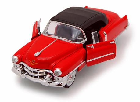 1953 Cadillac Eldorado, Red - Welly 22414 - 1/24 scale Diecast Model Toy Car