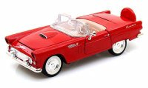 1956 Ford Thunderbird Convertible, Red - Showcasts 73215 - 1/24 Scale Diecast Model Car (Brand New, but NOT IN BOX)