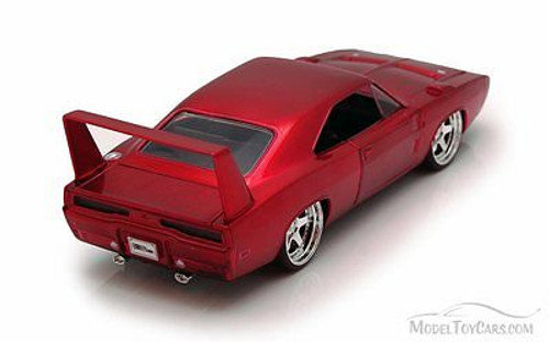 1969 Dodge Charger Daytona, Burgundy -  Jada Toys Fast & Furious 97085 - 1/24 scale Diecast Model Toy Car (Brand New, but NOT IN BOX)