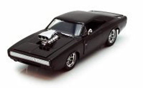 Dom's 1970 Dodge Charger R/T, Black -  Jada Toys Fast & Furious 97059 - 1/24 scale Diecast Model Toy Car