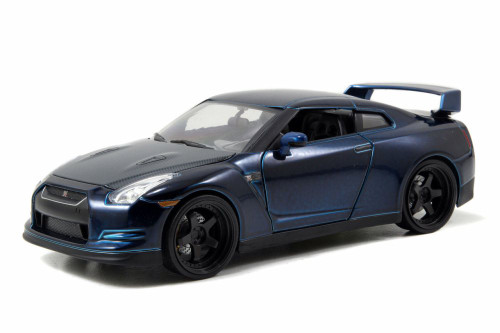 Brian's 2009 Nissan GT-R, Blue -  Jada Toys Fast & Furious 97082 - 1/24 scale Diecast Model Toy Car (Brand New, but NOT IN BOX)