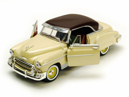 1950 Chevy Bel Air, Yellow With Brown Roof - Motormax Premium American 73268 - 1/24 Scale Diecast Model Car
