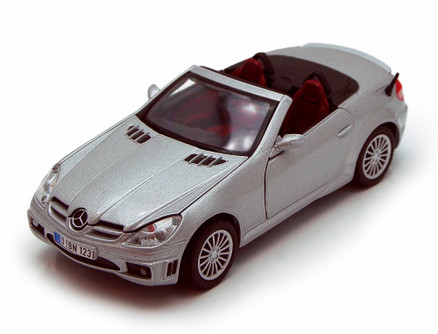 Mercedes Benz SLK55 AMG Convertible, Silver - Showcasts 73292 - 1/24 Scale Diecast Model Car