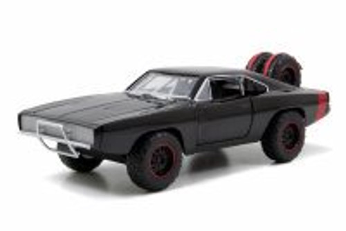 Dom's 1970 Dodge Charger Off-Road, Black -  Jada Toys Fast & Furious 97038 - 1/24 scale Diecast Model Toy Car