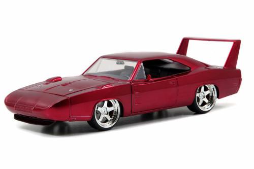 1969 Dodge Charger Daytona, Burgundy - Jada Toys 97060 - 1/24 scale Diecast Model Toy Car