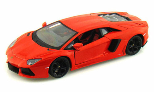 Lamborghini Aventador LP700-4, Orange - Maisto 31210 - 1/24 scale diecast model car