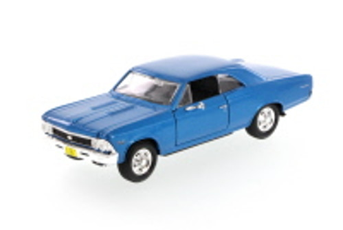 1966 Chevrolet Chevelle SS396 Hard Top, Blue - Showcasts 34960 - 1/24 Scale Diecast Model Toy Car