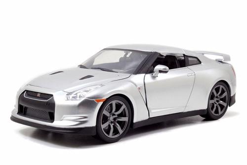 Brian's Nissan GT-R, Candy Silver - JADA Toys 97212 - 1/24 Scale Diecast Model Toy Car