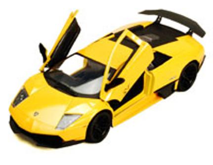 Lamborghini Murcielago LP670-4 SV, Yellow - Motormax 73350YL - 1/24 Scale Diecast Model Toy Car