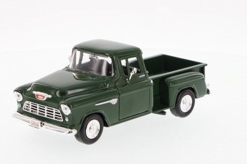 1955 Chevrolet Stepside Pick-up, Green - Motormax 73236 - 1/24 Scale Diecast Model Toy Car