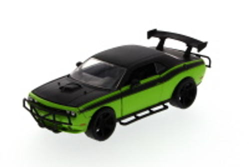 Fast & Furious Letty's 2011 Dodge Challenger SRT8 hard Top, Green with Black - JADA 97232 - 1/24 Scale Diecast Model Toy Car (Brand New, but NOT IN BOX)
