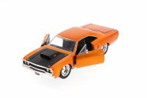 Fast & Furious 1970 Dom's Plymouth Road Runner Hard Top, Copper - JADA 97126 - 1/24 Scale Diecast Model Toy Car