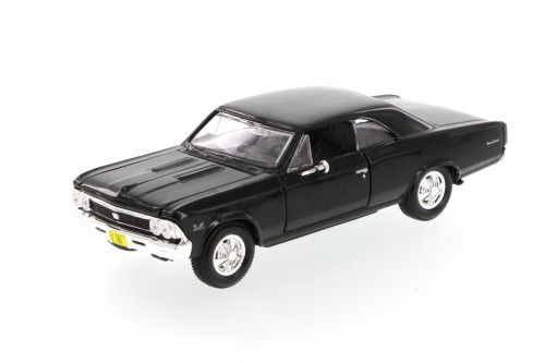 1966 Chevrolet Chevelle SS396 Hard Top, Black - Showcasts 34960 - 1/24 Scale Diecast Model Toy Car