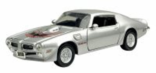 1973 Pontiac Firebird, Silver - Motormax 73243 - 1/24 Scale Diecast Model Toy Car