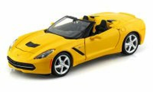 2014 Chevrolet Corvette Stingray Convertible, Yellow - Maisto 31501 - 1/24 scale diecast model car