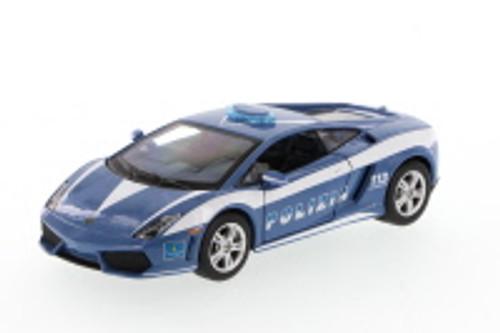 Lamborghini Murcielago Polizia, Blue - Showcasts 34299 - 1/24 Scale Diecast Model Toy Car