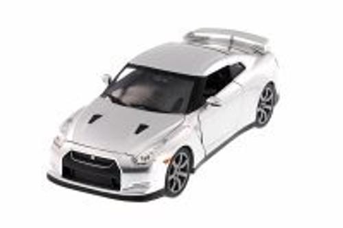 Brian's Nissan GT-R, Candy Silver - JADA Toys 97213 - 1/24 Scale Diecast Model Toy Car