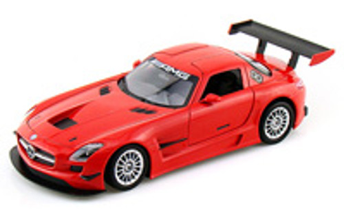 Mercedes-Benz SLS AMG GT-3, Red - Showcasts 73356 - 1/24 Scale Diecast Model Toy Car