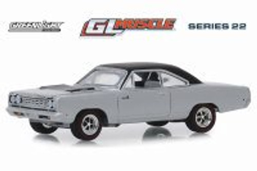 1968 Plymouth Road Runner Hemi Hardtop, Buffet Silver - Greenlight 13250B/48 - 1/64 scale Diecast Model Toy Car