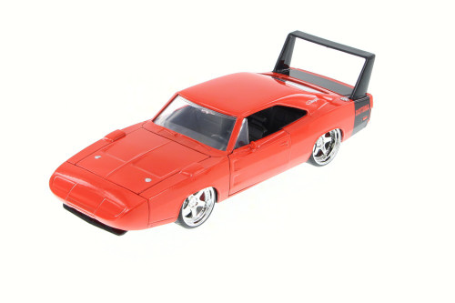 1969 Dodge Charger Daytona, Orange - JADA 97683HT - 1/24 Scale Diecast Model Toy Car (Brand New, but NOT IN BOX)