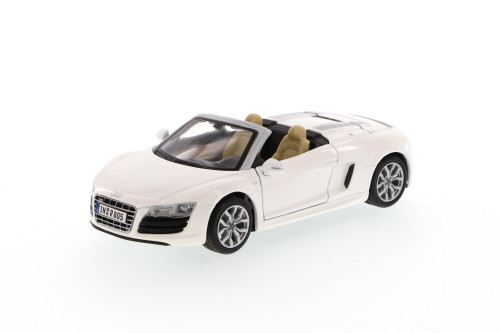 Audi R8 Spyder Convertible, White - Maisto 31204 - 1/24 Scale Diecast Model Toy Car