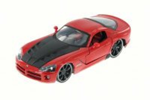 2008 Dodge Viper SRT10, Red - JADA 91804XN - 1/24 Scale Diecast Model Toy Car (Brand New, but NOT IN BOX)