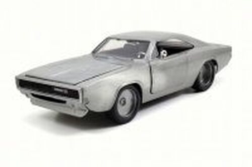 1968 Dom's Dodge Charger R/T, Bare Metal - JADA 97336 - 1/24 Scale Diecast Model Toy Car