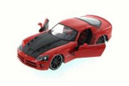 2008 Dodge Viper SRT10, Red - JADA 96805XN - 1/24 Scale Diecast Model Toy Car