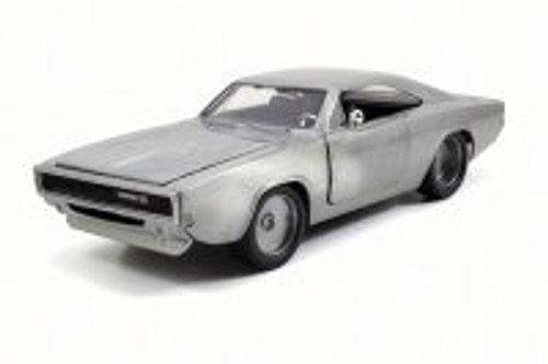 1968 Dom's Dodge Charger R/T, Bare Metal - JADA 97370 - 1/24 Scale Diecast Model Toy Car (Brand New, but NOT IN BOX)
