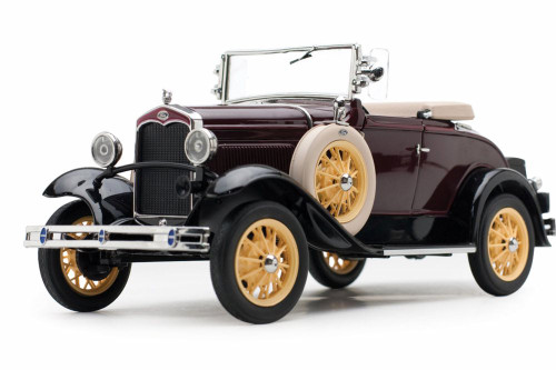 1931 Ford Model A Roadster, Ford Maroon - Sun Star 6124M - 1/18 scale Diecast Model Toy Car