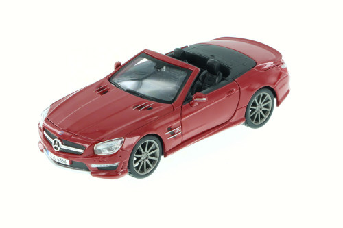 2012 Mercedes-Benz SL 63 AMG Convertible, Red - Maisto 34503 - 1/24 Scale Diecast Model Toy Car (Brand New, but NOT IN BOX)