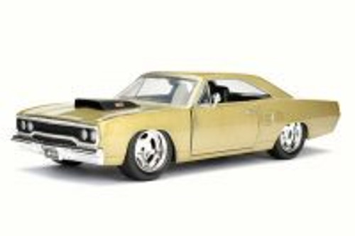 1970 Plymouth Road Runner, Gold - JADA Toys 98233 - 1/24 Scale Diecast Model Toy Car