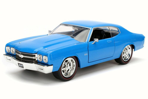 1970 Chevy Chevelle SS, Blue - Jada 97828 - 1/24 Scale Diecast Model Toy Car
