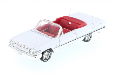 1963 Chevy Impala Convertible, White - Welly 22434 - 1/24 Scale Diecast Model Toy Car (Brand New, but NOT IN BOX)