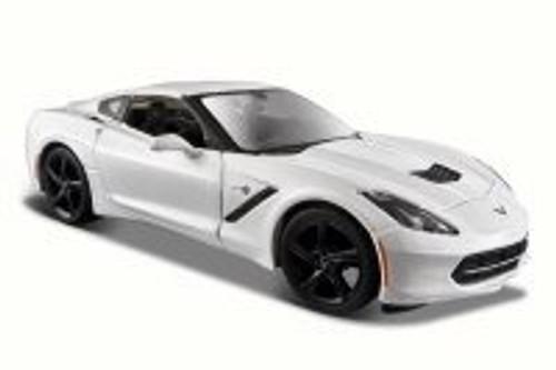 2014 Chevy Corvette Stringray Coupe, White - Maisto 34505 - 1/24 Scale Diecast Model Toy Car