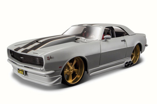 1968 Chevy Camaro Z/28, Gray - Maisto 32508GY - 1/24 Scale Diecast Model Toy Car