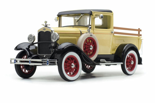 1931 Ford Model A Pickup, Bronson Yellow - Sun Star 6114YL - 1/18 scale Diecast Model Toy Car