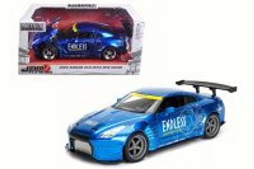 2009 Nissan GT-R Ben Sopra, Blue - Jada 98569WA1 - 1/24 Scale Diecast Model Toy Car