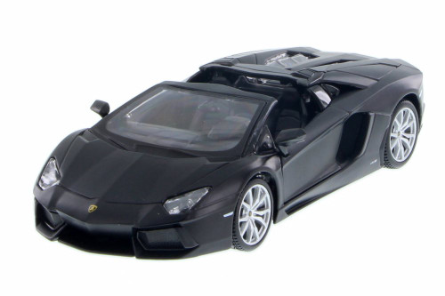 Lamborghini Aventador LP 700-4 Roadster, Matte Black - Maisto 34504 - 1/24 Scale Diecast Model Toy Car